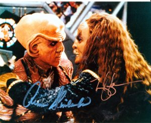 Autograph Star Trek Deep Space 9 picture by Armin Shimmerman and Mary K Adams