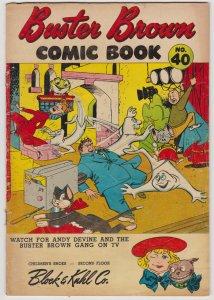 Buster Brown Comics #40 (Fall 1955) 4.0 VG Brown Shoe Reed Crandall