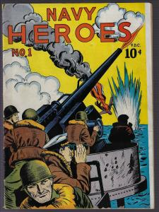 Navy Heroes #1 (1945, Almanac Publishing)