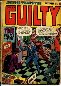 Justice Traps The Guilty #32 1951-murder-violence-pre-code crime-G/VG