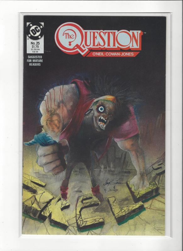 The Question #25 Mature Readers VF/NM Nice Copy