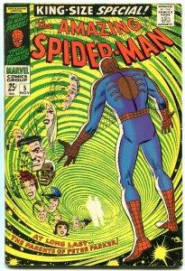 AMAZING SPIDER-MAN ANNUAL #5--Peter Parker's parents-1968 VG