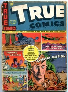 True Comics #23 1943- General Mark Clark- U-Boat VG-
