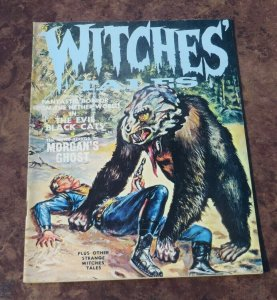 Witches Tales #2 VF 1971 Bronze Age Sci-Fi/Horror Magazine Evil Black Cats Ghost