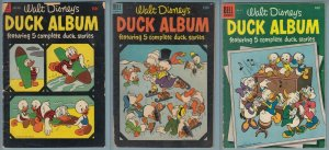 Donald Duck Album #492, 531, 611 (1950s)  Dell Four Color Comic Old Lot of 3