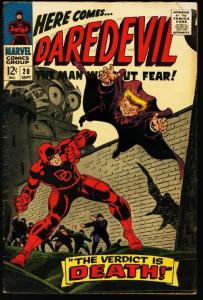 DAREDEVIL #20-MARVEL-GENE COLAN ART VG