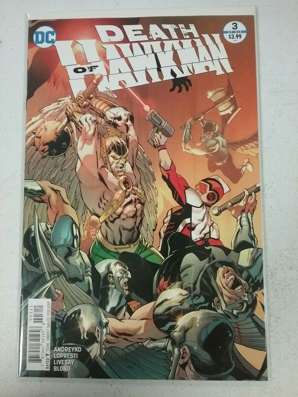 Death of Hawkman #3 DC Comic 2017 NW83