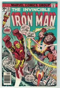 IRON MAN 93 VF-NM Dec 1976 Kirby cover