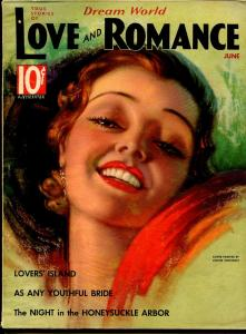 Dream World Love and Romance 6/1936-pin-up girl cover-Tchetchet-spicy-exotic-FN