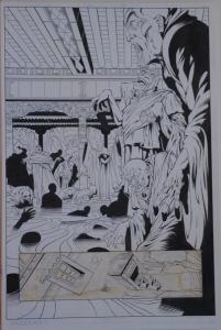 BERNARD CHANG / KEN BRANCH original art, DOCTOR MIRAGE #2 pg 4, 1993, Splash