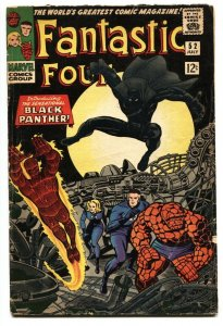 FANTASTIC FOUR #52 comic book 1st appearance Black Panther-Marvel 1966