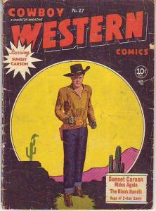 Cowboy Western Comics #27 (Apr-50) GD Affordable-Grade Sunset Carson