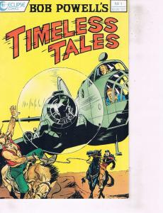 Lot Of 2 Comic Books Eclipse Timeless Tales #1 and Malibu Star Trek #1 ON7