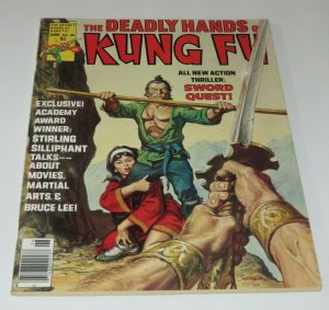 The Deadly Hands of Kung Fu #25 VF 1976 Martial Arts Mag. Sword Quest Bruce Lee
