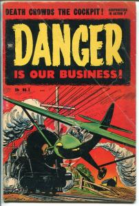 Danger Is Our Business #2 1954-Toby-horror stories-Death from The Sea-VG