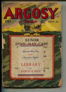 Argosy-Pulp-9/1940-Johnston McCulley-William Chamberlain
