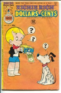 Richie Rich Dollars and Cents #73 1976-Harvey-Little Lotta-52 pages-G