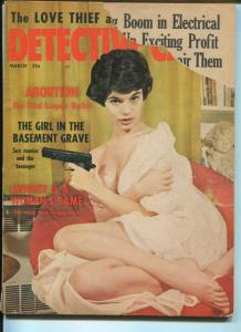 DETECTIVE CASES-3/1963-ABORTION-GUN MOLL-SEX MANIAC AND THE TEENAGER-PLAY VG