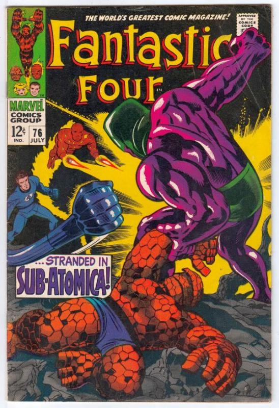 Fantastic Four #76 (Jul-68) FN+ Mid-High-Grade Fantastic Four, Mr. Fantastic ...
