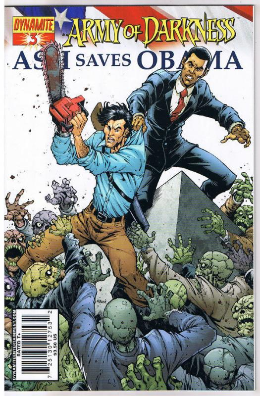 ARMY of DARKNESS - ASH SAVES OBAMA #3 A, NM, 2009, Deadites,  more AOD in store
