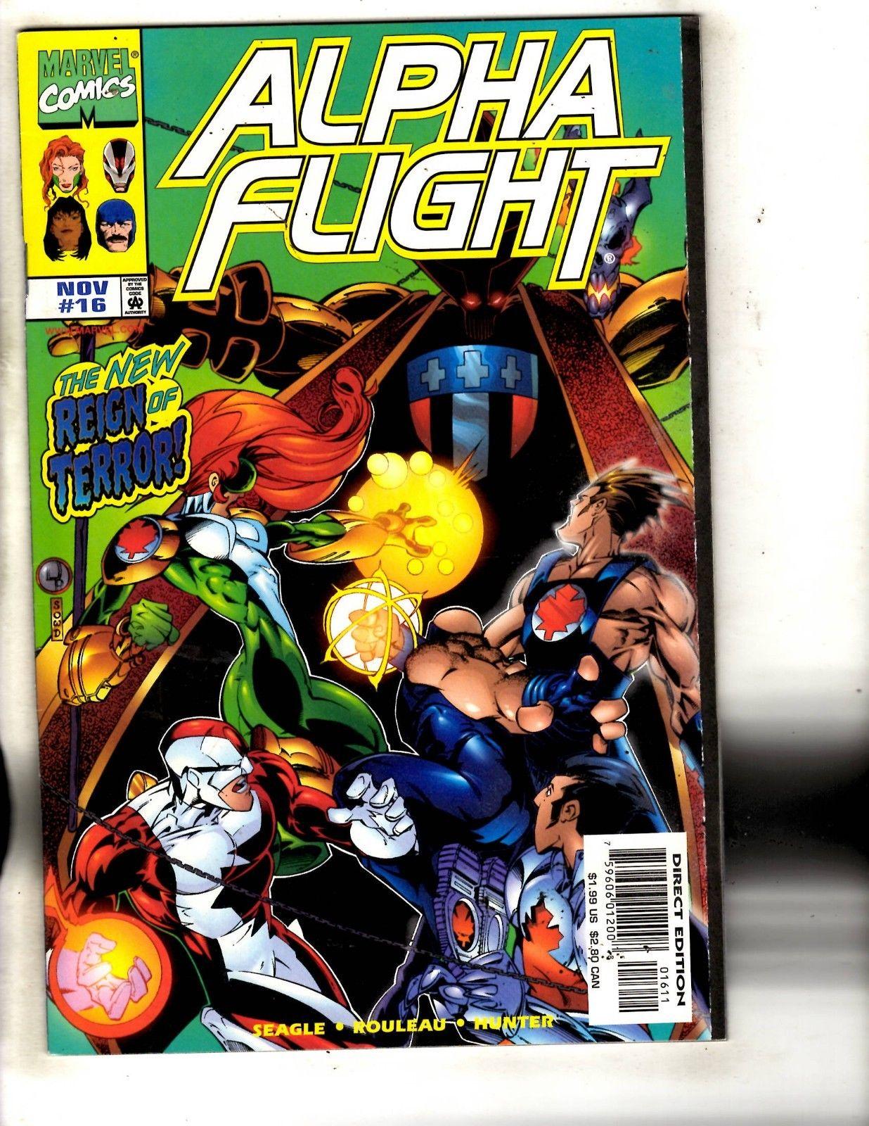 Big Hero Comic alpha flight # 16 nm 1st print marvel comic book big hero 6