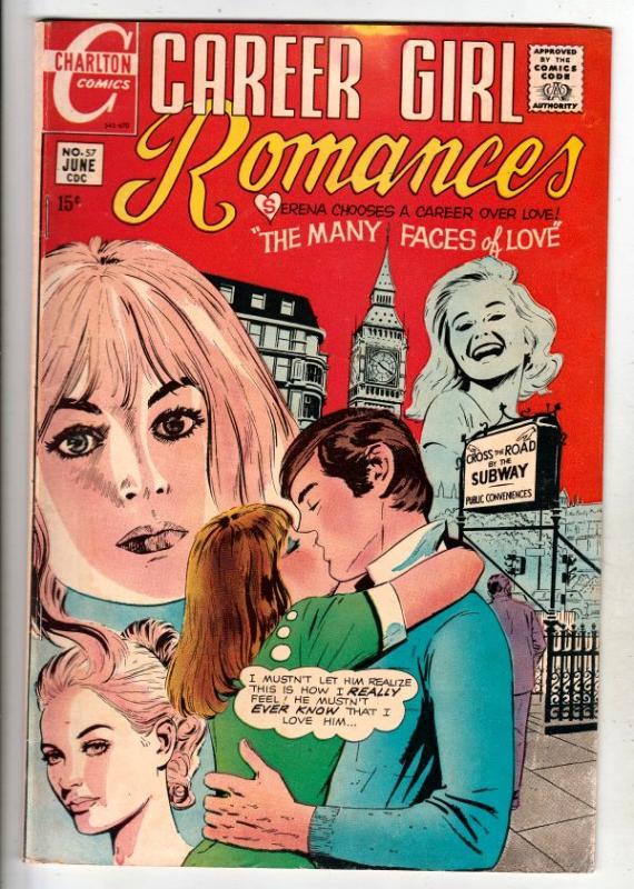 Career Girl Romances #57 (Jun-70) FN+ Mid-High-Grade