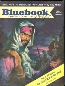 BLUE BOOK PULP-JANUARY-1954-G/VG-MAYERS COVER-O'ROURKE-ROAN-CHABER G/VG