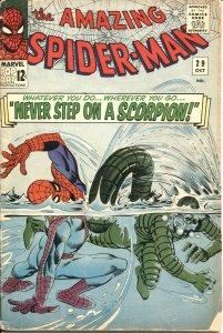 AMAZING SPIDER-MAN #29-1965-SCORPION ORIGIN-MARVEL-STAN LEE-STEVE DITKO-COMIC
