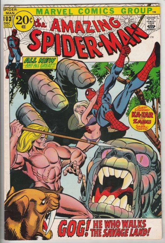 Amazing Spider-Man #103 (Dec-71) NM- High-Grade Spider-Man