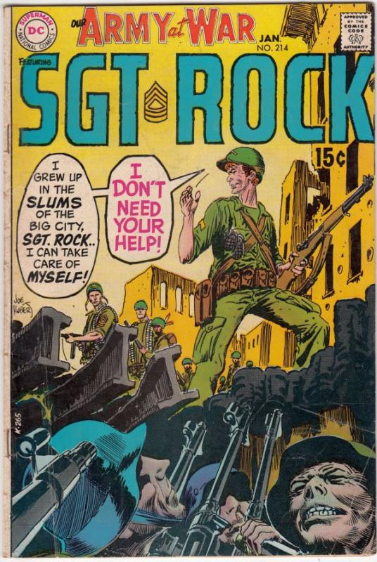 Our Army at War #214 (Jan-70) FN Mid-Grade Easy Company, Sgt. Rock