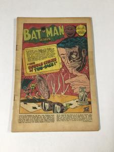Detective Comics 187 Coverless Two-face Golden Age
