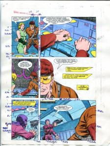 Justice Machine #24 Page #24 1988 Original Color Guide