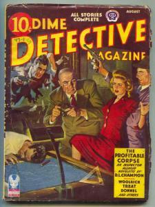 Dime Detective Pulp 8/43- Profitable Corpse VG+