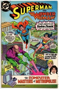 SUPERMAN / WONDER WOMAN Radio Shack Promo #1, FN+, 1982 Computer Whiz Kids