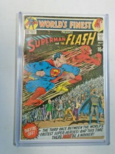 World's Finest #198 3rd Superman vs The Flash Race 4.5 (1970)