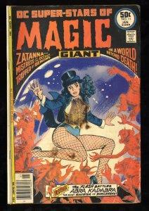 DC Super-Stars #11 GD- 1.8 1st Solo Zatanna Cover!