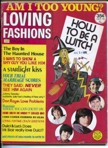 Loving Fashions 10/1972-16 Magazine-fashions-teen advice-star photos-pulp fic...