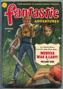 Fantastic Adventures Pulp October 1951- Decapitation cover- Medusa