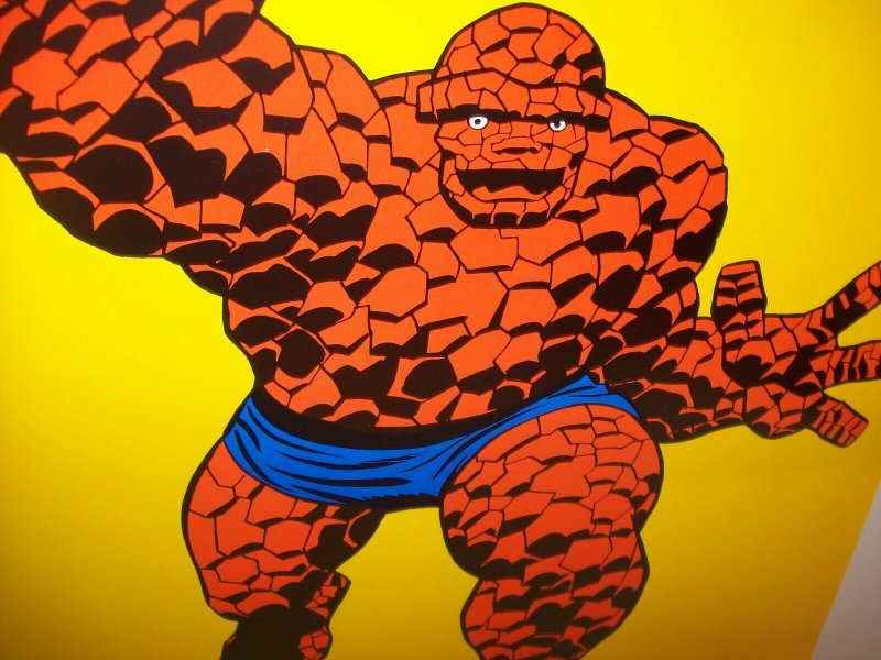The Thing POSTER Marvel Comics 1982 Orange Crush Giveaway Art NOS Fantastic Four