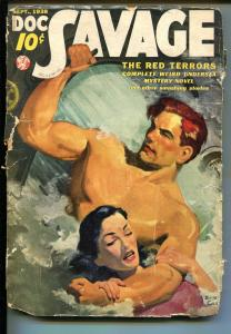 DOC SAVAGE 09/1938-THE RED TERRORS-LOW GRADE COPY-fr