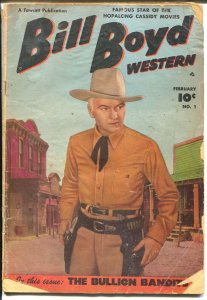 Bill Boyd #1 1950-Fawcett-1st issue-photo covers-B-Western film star-FR/G