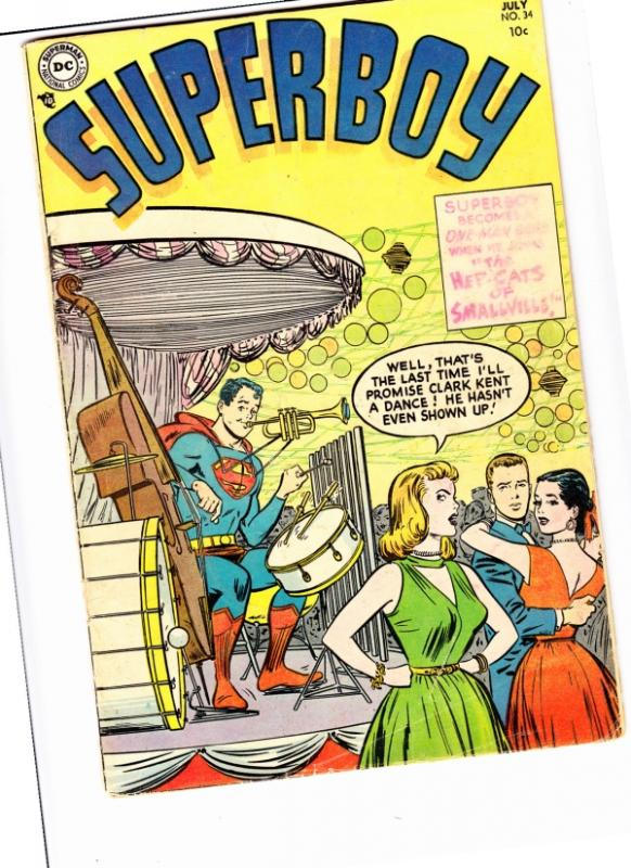 Superboy #34 (Jul-54) VG- Affordable-Grade Superboy