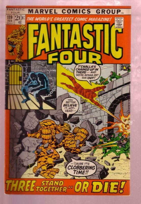 FANTASTIC FOUR #119 1972- THE THING-TORCH-BLACK PANTHER VG/FN