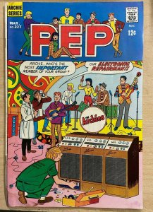 PEP #227 (Archie, 3/1969)  GOOD (G) Archie band (Archies) cover WATER STAIN