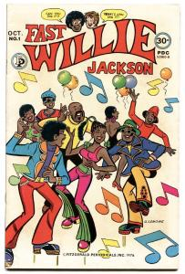 FAST WILLIE JACKSON #1-Hard to find-RARE-1976-BLACK ARCHIE-FIRST ISSUE
