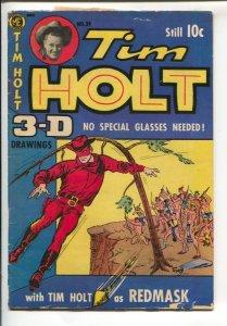 Tim Holt #39-1954-ME-3-D effect issue-Red Mask-Jesse james-Wild Bill Hickok-B...