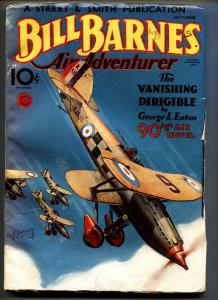 BILL BARNES AIR ADVENTURER Oct 1934-Pulp magazine-Canadian variant-High Grade