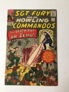 Sgt. Fury And His Howling Commandoes 8 Vg Very Good 4.0 Silver Age