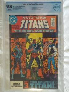 Tales of the Teen Titans #44 - CBCS 9.8 - 1st Nightwing & Jericho