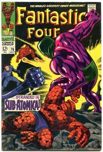 FANTASTIC FOUR #76 1968- SILVER SURFER-JACK KIRBY ART FN+
